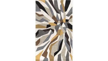 Cosmopolitan Area Rug - Light Gray/Gold
