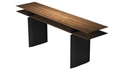 "Kaesha Console Table 79"" - Walnut on Graphite"