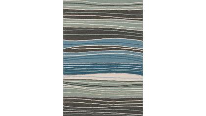 Palani Grey and Blue Rug
