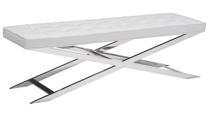 Perry Bench - White