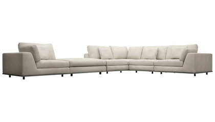 Persis Corner Sectional Sofa with Ottoman