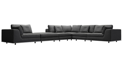 Persis Corner Sectional Sofa with Ottoman