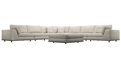 Persis Large Corner Sectional Sofa with Ottoman