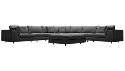 Persis Large Corner Sectional Sofa with Ottoman