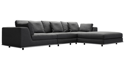 Persis Three Seat Sofa with Ottoman