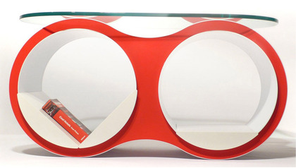 BOLLA 2 Coffee Table Standard Oval Glass Top