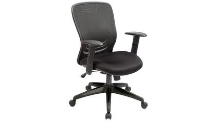 Tetra Mesh Back Swivel Chair W/Fabric Seat Black