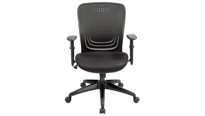 Tetra Mesh Back Swivel Chair W/Fabric Seat Black
