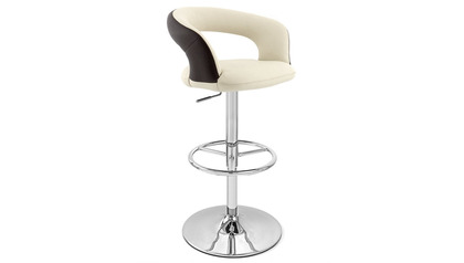 Cream Seat with Brown Back Monza Bar Stool