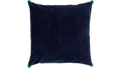 Velvet Poms Throw Pillow with Down Insert