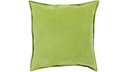 Velvet Square Throw Pillow with Down Insert