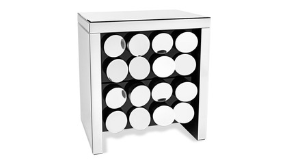 Onyx Mirrored Accent Table