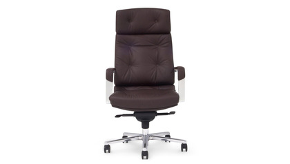 Perot Leather Executive Chair - Dark Brown