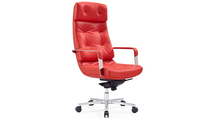 Perot Leather Executive Chair-Red