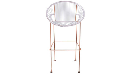Puerto Counter Stool - Copper Frame