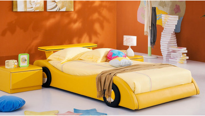 Rider Leather Kids Bed