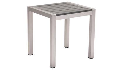 Rivera Side Table Brushed Aluminum