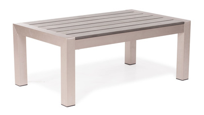 Rivera Coffee Table Brushed Aluminum