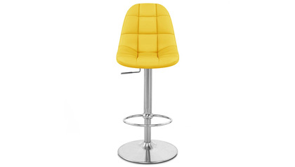 Yellow Rochelle Bar Stool