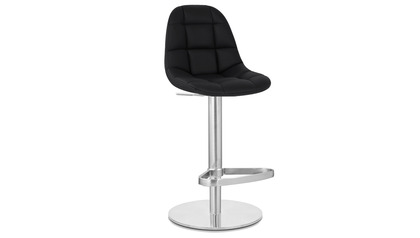 Black Rochelle Bar Stool - Round Flat Base