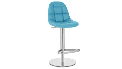 Rochelle Bar Stool - Round Flat Base - Teal
