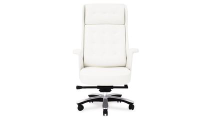 Rockefeller Leather Executive Chair - White