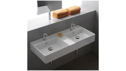 Teorema Wall Mounted Double Sink