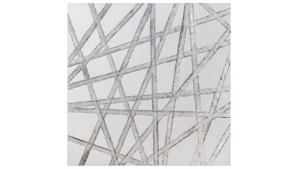 "Silver Ribbons Canvas Art - 48"" x 48"""