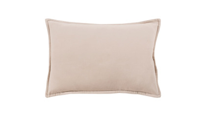 Velvet Lumbar Throw Pillow with Down Insert