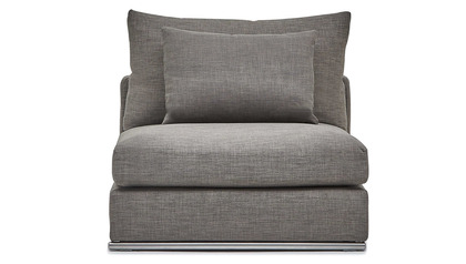 Soriano Armless 1.5 Seater - Gray
