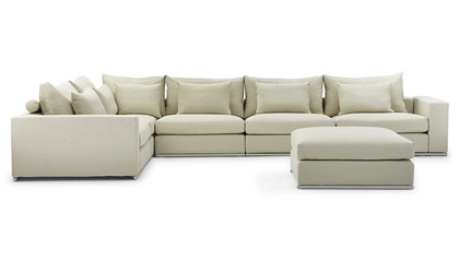 Soriano L Sectional with Ottoman - Beige