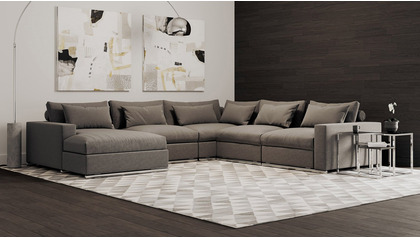 Soriano U Sectional - Gray