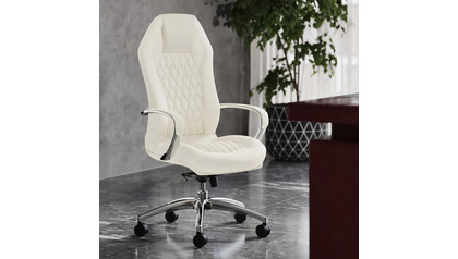 Sterling Leather Executive Chair - Cream
