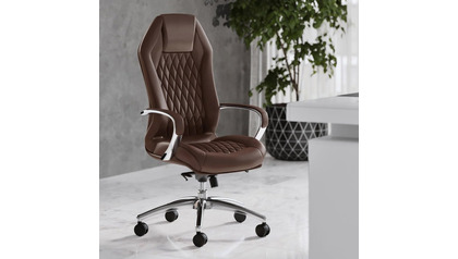 Sterling Leather Executive Chair - Dark Brown