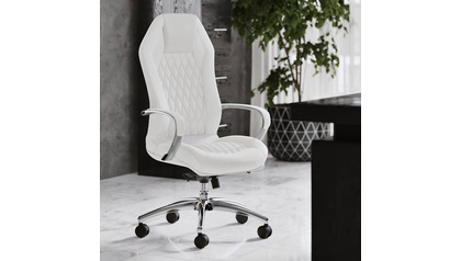Sterling Leather Executive Chair - White
