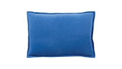 Velvet Lumbar Throw Pillow with Down Insert