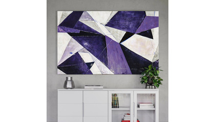 "Violet Infusions Canvas Art - 80"" x 50"""