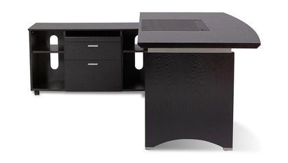 Washington Desk with Return - Black