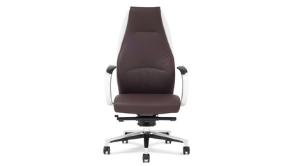 Wrigley Leather Executive Chair - Dark Brown