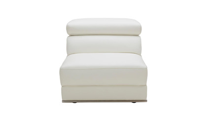 Wynn Armless 1 Seater White
