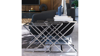 Zafiro Nesting Side Tables - Polished Stainless