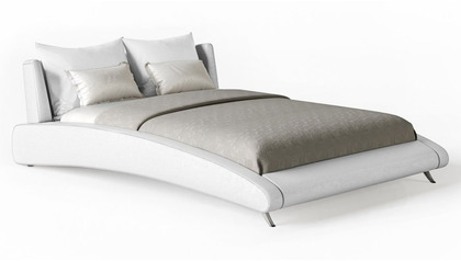Cadillac Leather Bed - White