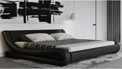 Marlo Leather Bed - Black