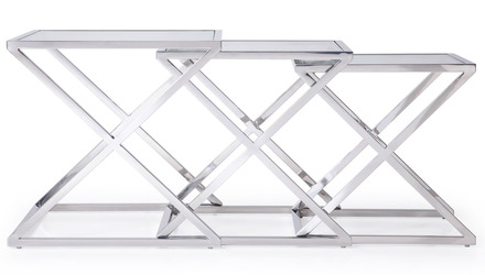 Zafiro Nesting Side Tables - Clear
