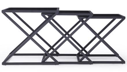 Zafiro Nesting Side Tables - Smoked