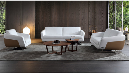 Armondo Sofa Set with Swivel Chair