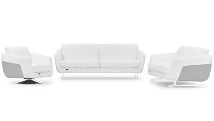 Armondo Sofa Set with Swivel Chair