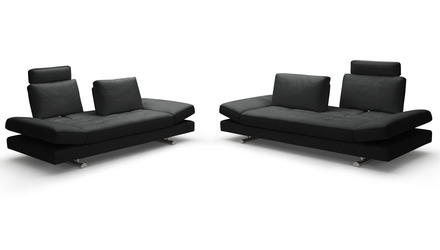 Bentley Leather Sofa and Loveseat Set