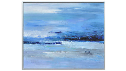 "Calmness of Blue Framed Art - 48"" x 40"""