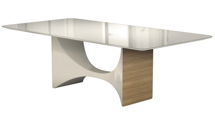 Cambrie 95 Inch Dining Table - Beige on Natural Oak